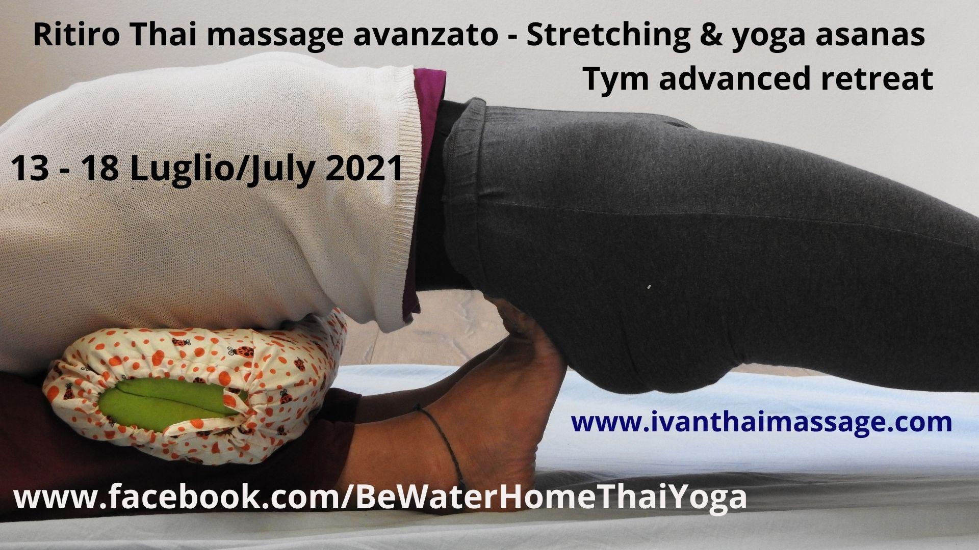 Ritiro di Thai massage Avanzato – Stretching & Yoga asanas